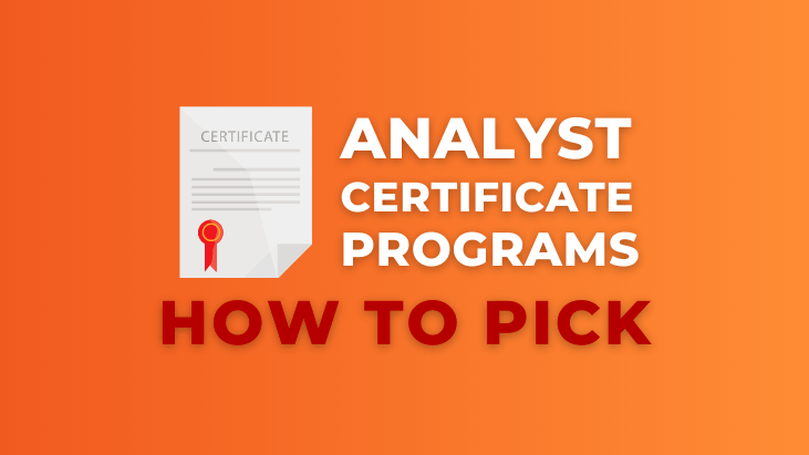 how to pick a data analyst certificate program